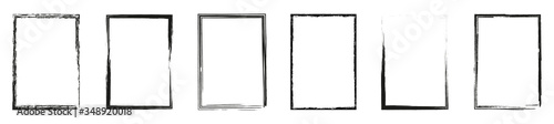 Photo Grunge frame collection. Grounge border set. Vector illustration
