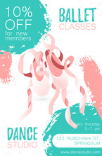 Template Poster With Ballerina...