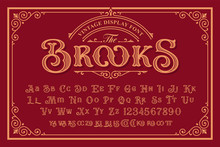 A Vintage Font With Upper And ...