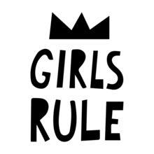 Girls Rule Card, Text Or Lette...