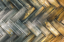 Wooden Background Of Old Small...