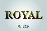 Black Gold Royal Vector Text Effect
