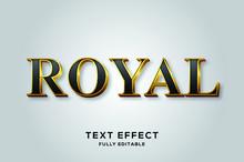 Black Gold Royal Vector Text E...