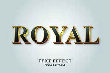 Obraz na PlexiBlack Gold Royal Vector Text Effect
