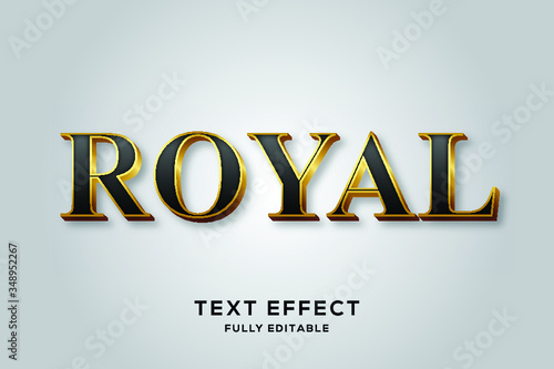 Black Gold Royal Vector Text Effect - 348952267
