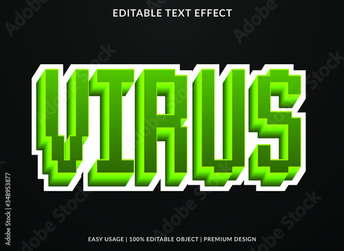 Retro Pixel Vector Text Effect - 348953877