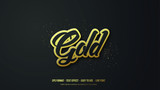 Modern Gold Vector Text Effect Illustration