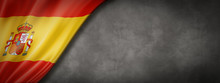 Spanish Flag On Concrete Wall Banner