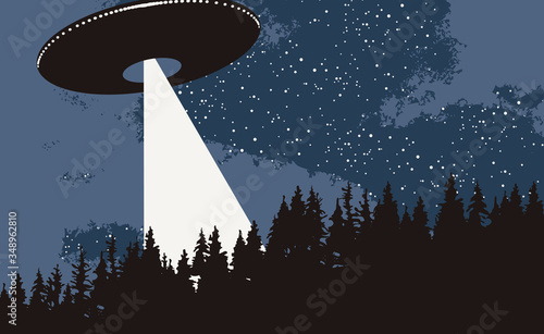 Photo Vector banner on the theme of alien invasion
