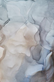Fluid Art . Abstract colorful background, wallpaper. Mixing acrylic paints. Modern art. Marble texture. Alcohol ink colors  translucent - 348963289