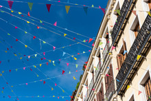Street Full Of Colored Pennant...