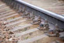 Old Rusty Railroad Switch