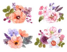 Bouquet Of  Summer Flowers Wat...