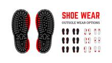 Shoe Wear Erasing. Infographic...