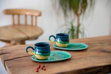 Turkish Coffee In Colorful Han...