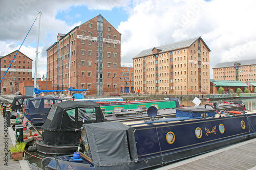 Gloucester Docks Canal Basin, England Fototapet