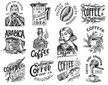 Coffee Shop Logo And Emblem. C...