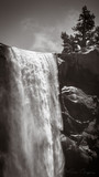 Scenic View Of Waterfall Against Sky - 348996261