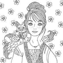 Fantasy Coloring Book Page For...