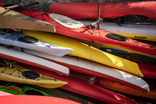 Colorful Kayaks Pattern