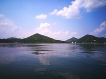 Hills By Lake