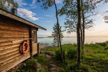 Landscape With Finnish Sauna B...