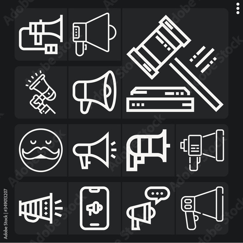 Photo Set of 13 hugh lineal icons
