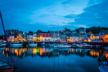 Padstow Harbour In The Night, ...
