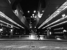 Street Light Below Elevated Road