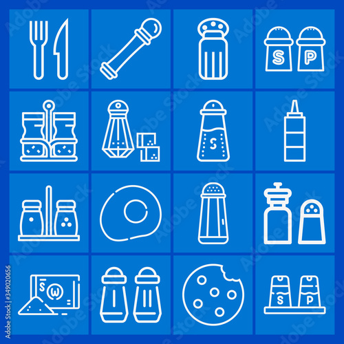 Photo 16 pack of alkali  lineal web icons set