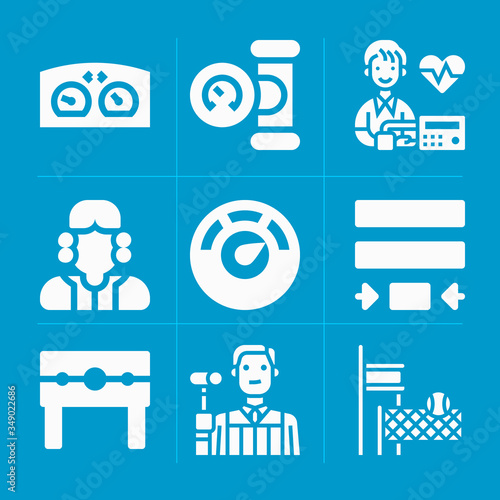 Photo Filled approximate 9 vector icons set