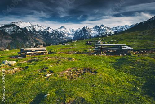 Fototapeta Panorama Tatr z Rusinowej Polany - Tatry Wysokie obraz