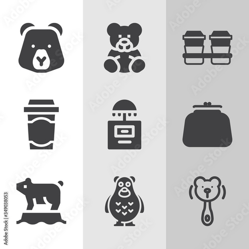 Photo Simple collection of abide related filled icons.