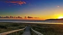 Footpath Leading To Sea At Sun...