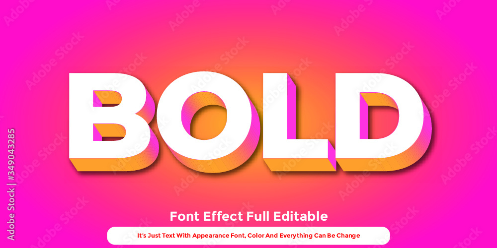 Fototapeta Abstract 3D Text Graphic Style Design