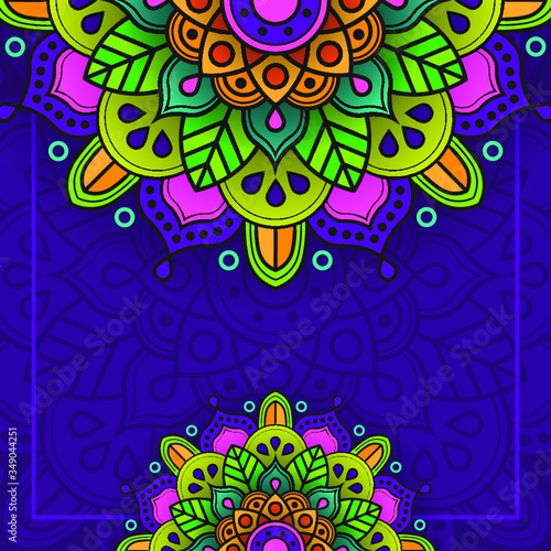 Obraz abstract colorful background with flowers - fototapety do salonu