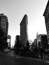 Road By Flatiron Building Against Sky