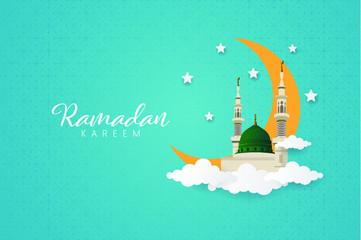 Obraz na PlexiRamadhan Kareem Greeting Card