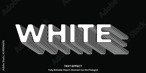 Perfect White Font Type Vector - 349046616