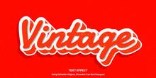 3D Vintage Font Type Vector