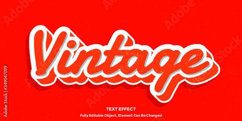 3D Vintage Font Type Vector - 349047099