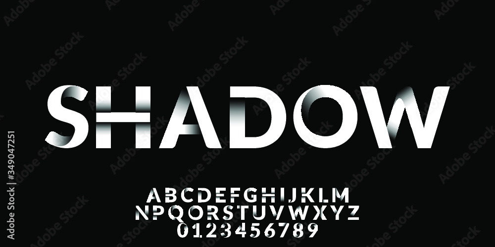 Fototapeta Clean Shadow Font Type Vector