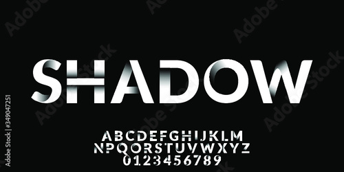 Clean Shadow Font Type Vector - 349047251