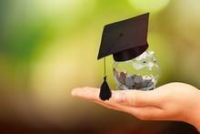 Graduation Hat On A Glass Jar ...