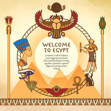 Egyptian Background With Frame