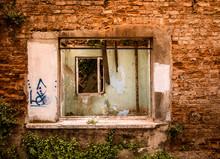 Full Framed Ramshackle Window ...