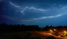 Lightning During Storm