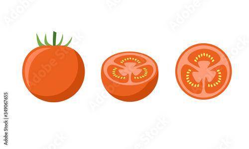 トマトのイラスト 切断 断面 Adobe Stock でこのストックベクターを購入して 類似のベクターをさらに検索 Adobe Stock