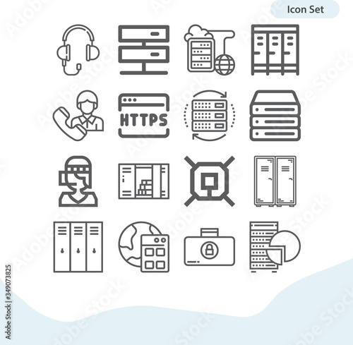 фотография Simple set of elliott related lineal icons.