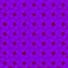 Graphic Stylish Pattern With Dark Squares And Violet Rhombuses In A Checkerboard Pattern.